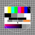 Fernseher-Testbild früher