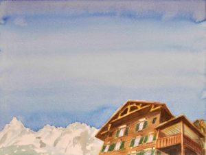 """""""Außer Haus"""", Aquarell von Roland Haas, 2019"""