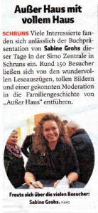 """Wann & Wo über die Buchpräsentation """"Außer Haus"""""""